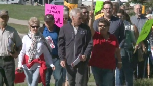CTV Atlantic: Dozens march for N.B. refugee