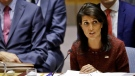 U.S. United Nations Ambassador Nikki Haleyaddress the United Nations Security Council, during the U.N. General Assembly, Thursday Sept. 21, 2017 at U.N. headquarters. (AP Photo/Bebeto Matthews)