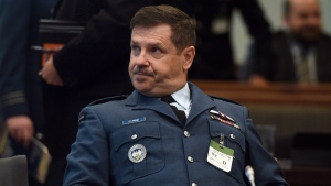 Lt. Gen. Pierre St-Amand appears as a witness at a commons national defence committee in Ottawa on Thursday, Sept. 14, 2017. (Sean Kilpatrick/The Canadian Press)