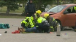 High school students witness mock crash
