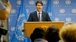 Prime Minister Justin Trudeau holds a news conference after addressing the United Nations General Assembly, Thursday Sept. 21, 2017 at U.N. headquarters. (Bebeto Matthews/AP Photo)