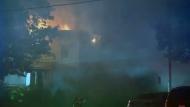 An empty house caught fire in Saint Eustache on Sept. 21, 2017