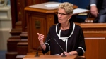 Ontario Premier Kathleen Wynne speaks at the National Assembly in Quebec City, Thursday, September 21, 2017. THE CANADIAN PRESS/Francis Vachon