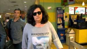 Zeljna Kosovac leaves the College Park courthouse on September 22, 2017.