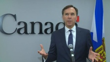 """Federal Finance Minister Bill Morneau was in Halifax on Sept. 22, 2017 for his """"listening tour"""" over Ottawa's controversial tax proposals, which is drawing criticism from some small business owners and concerns from Nova Scotia's Liberal premier."""