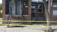 Police responded to a home in the 700 block of Selkirk Ave., on July 21 where a man was fatally shot (Photo taken in July by Beth Macdonell/CTV Winnipeg)