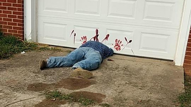 People are calling 911 to report dead body that's just a Halloween display