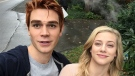 "KJ Apa, who plays Archie Andrews in the series ""Riverdale,"" crashed after a 14.2-hour day on set in the Vancouver area. (Instagram / @kjapa)"