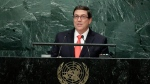 Cuban Foreign Minister Bruno Eduardo Rodriguez Parrilla speaks during the 71st session of the United Nations General Assembly, Thursday, Sept. 22, 2016, at U.N. headquarters. (Frank Franklin II/AP Photo)