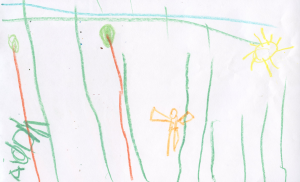 Weather art by Aidan, age 6.