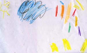 Weather art by David, age 4.