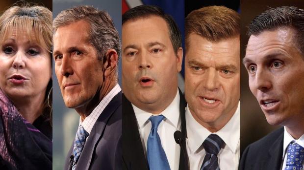 Dianne Watts, Brian Pallister, Jason Kenney, Brian Jean, and Patrick Brown. (CANADIAN PRESS)