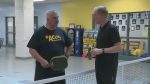 Marc battles Dave Jaworsky in pickleball challenge