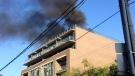 Smoke billows from a building in Corktown on September 22, 2017. (Twitter/@itzCorinne)