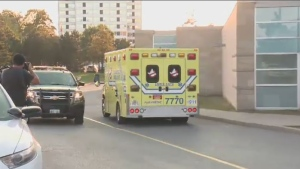 The 41-year-old suspect was transported by ambulance to a Quebec hospital