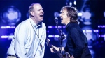 """Grand Forks, B.C. resident Gregg Anderson sings """"Get Back"""" with Paul McCartney on stage at the Barclays Center in Brooklyn. (Twitter)"""