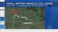 Three killed in crash near Lloydminster