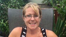 Laura Jeglum-Woycheshen, 48, was killed when a car crossed the centre line on the Lougheed Highway and struck her motorcycle.