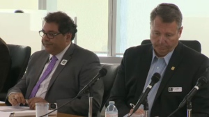 Naheed Nenshi and Bill Smith