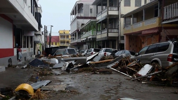 Devastation in Dominica after Hurricane Maria.
