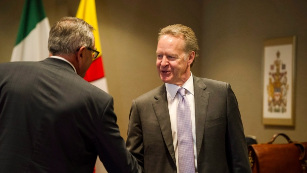 Negotiator Steve Verheul participates in discussions on the modernization of the North American Free Trade Agreement, in Toronto on September 22, 2017. (Christopher Katsarov/THE CANADIAN PRESS)