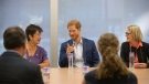 Prince Harry attends a round table on youth mental health as he visits The Centre for Addiction and Mental Health in Toronto on Saturday, September 23, 2017. THE CANADIAN PRESS/Chris Young