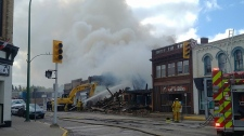 The Mayor of Virden tells CTV News a fire has destroyed two buildings in the town's historic 'Exchange District'. (Source: Twitter/JeffMcConnell)