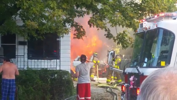 Fire in the 1600 block of Balfour Avenue