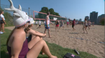 Splash pads and outdoor recreation facilities were busy Saturday, as a heat wave nearing 30 degrees enveloped Montreal and its surrounding areas. (CTV Montreal)