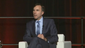 Federal Finance Minister, Bill Morneau was in Fredericton speaking to an audience of chambers of commerce from across the country, Saturday, Sept. 23, 2017.