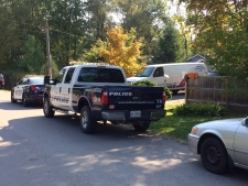 Drugs, ammunition, and homemade explosive device found in Innisfil, Ont. on Sept 23, 2017 (CTV Barrie Don Wright)
