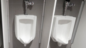 Urinals are shown in this file photo from Jan. 24, 2017. (AP / Carlos Osorio)