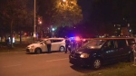 Police said the life of a cyclist who was struck by a car near Lafontaine Park is not in danger, despite her injuries being serious.