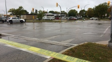 An investigation by Winnipeg Police has led to numerous road closures in the Kildonan Crossing area. (Source: Jamie Dowsett/CTV Winnipeg)