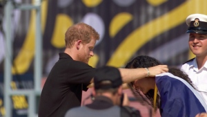 Prince Harry appears at Invictus Games in Toronto