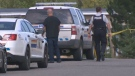 Police are investigating after a man was found dead outside a home on Lockhart Drive in New Minas, N.S. on Sept. 24, 2017.