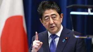 Japan's Prime Minister Shinzo Abe in Tokyo, on Sept. 25, 2017. (Shizuo Kambayashi / AP)