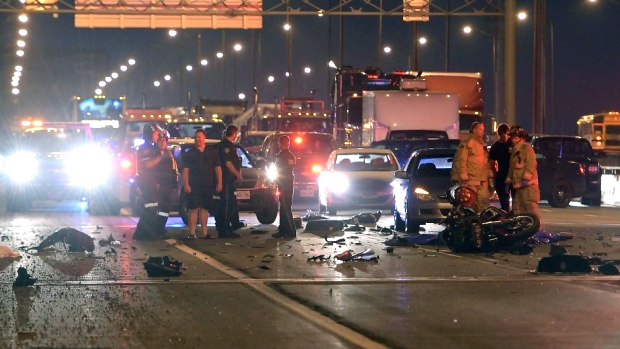 Motorcyclist killed in multi-vehicle crash on Burlington Skyway