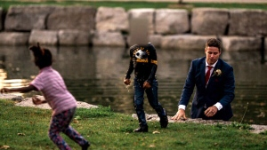 Groom becomes best man, saves little boy from drow