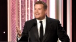 FILE - In this Nov. 6, 2016, file photo, host James Corden speaks at the 20th annual Hollywood Film Awards at the Beverly Hilton Hotel in Beverly Hills, Calif. (Photo by Chris Pizzello/Invision/AP, File)