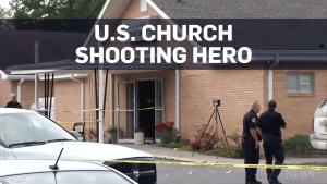 U.S. police say hero church usher stopped gunman
