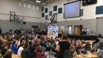 St. Nicholas School held its grand opening Monday in northwest Regina. (TAYLOR RATTRAY/CTV REGINA)