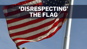 What are the rules when it comes to the U.S. flag?