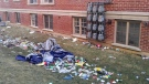 Litter is left behind following a Homecoming weekend party in Guelph. (Overheard at Guelph / Facebook)