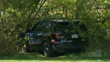 Searching for man who stole and crashed cruiser
