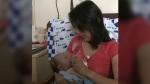 Baby Nikita back in hospital