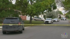 Stabbed officer recovering, latest on man killed