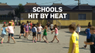 Students struggle in schools hit by heat wave