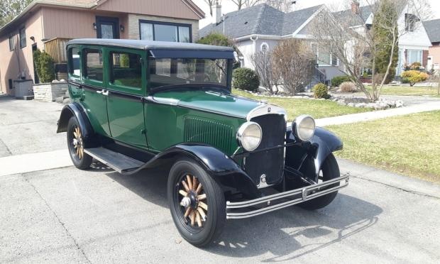 A 1928 Plymouth Model Q sedan