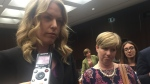 Conservative MP and status of women critic Rachael Harder at committee Tuesday, Sept. 26, 2017. (Rachel Aiello / CTV News)